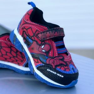 Spider-Man Lighted Up Toddler Athletics Shoe Sz 8